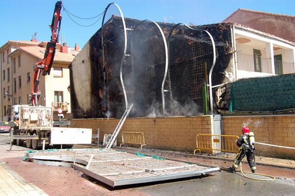 Se quema el jardín vertical de Las Edades del Hombre
