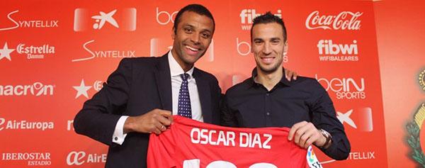 Óscar Díaz dice que tenía una espina clavada con el Mallorca