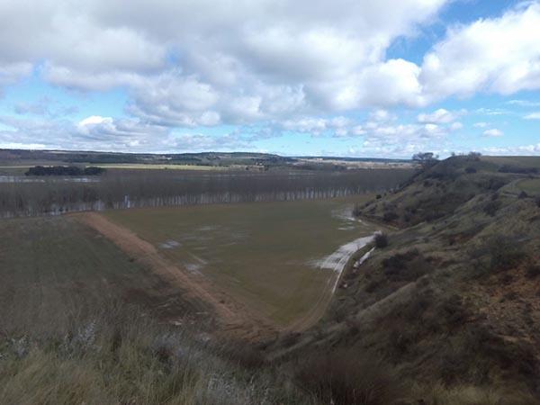 COAG-Soria denuncia que la crecida del Duero ha inundado zonas de cultivo