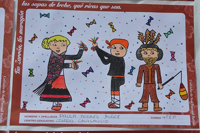 los niños pintan su zarrón
