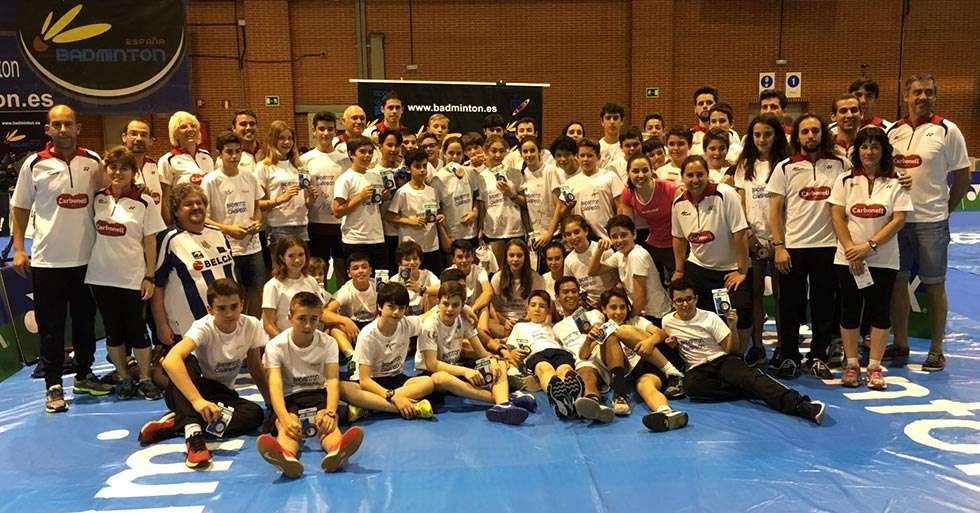 Técnicos del Club Valonsadero Bádminton participan en el programa Se Busca Campeón