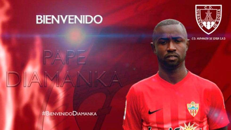 """El centrocampista senegalés Diamanka llega """"con ganas"""" al Numancia"""