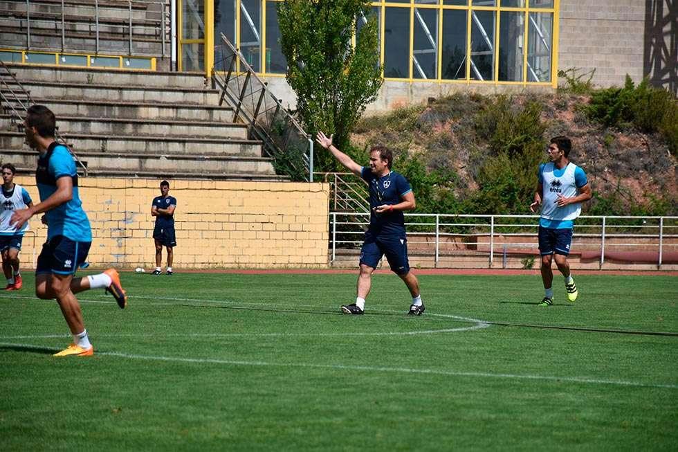 Numancia-Huesca,  la primera victoria en juego