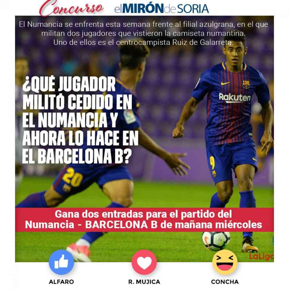 Gana dos entradas para ver el Numancia-Barça B