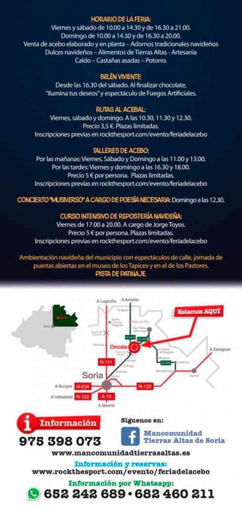 Oncala organiza la X edición de la Feria del Acebo