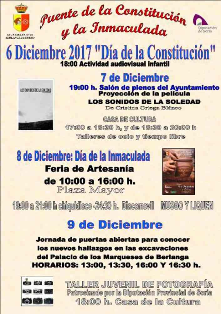 Berlanga de Duero llena de actividades el puente de la Constitución