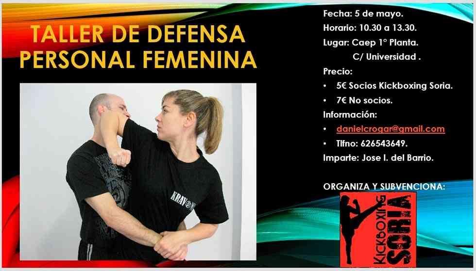 Taller de defensa personal femenina en el CAEP Soria