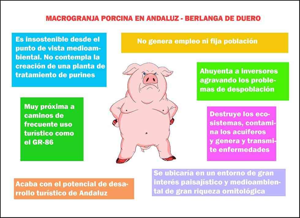 Más de mil firmas rechazan la macrogranja porcina de Andaluz