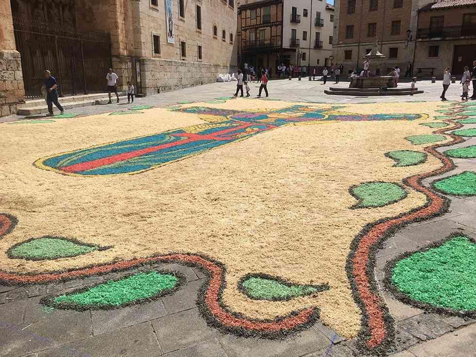 Lucimiento y esplendor de las alfombras florales en el Corpus
