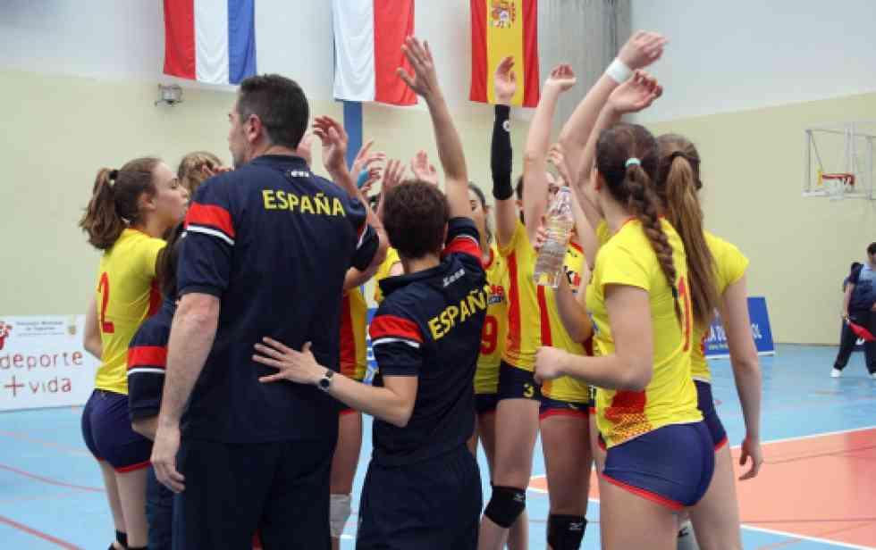 Concentración de la selección nacional femenina sub-17 de voleibol