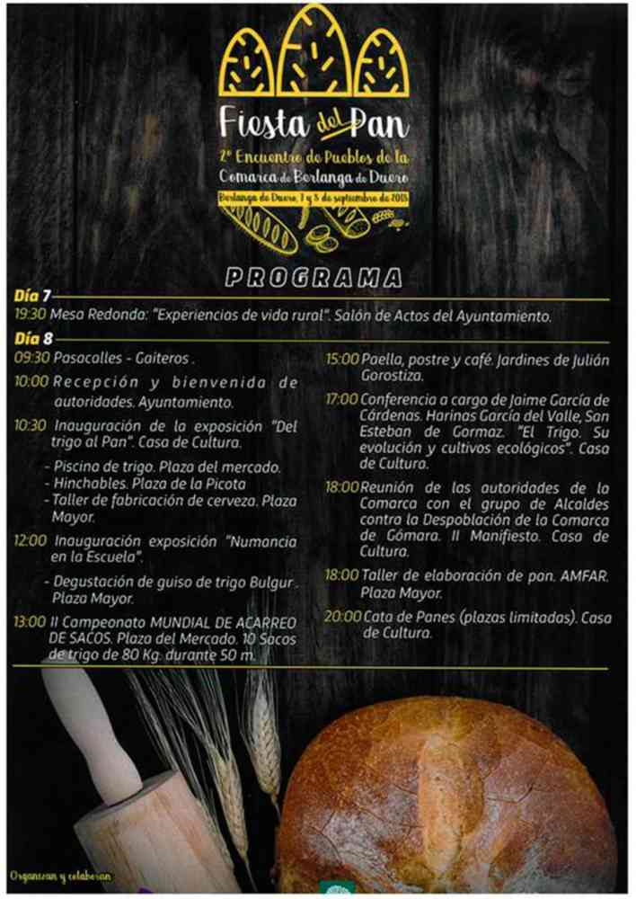 La segunda Fiesta del Pan será en Berlanga de Duero