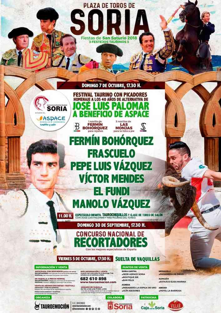 Tauroemoción presenta el festival taurino para homenajear a Palomar