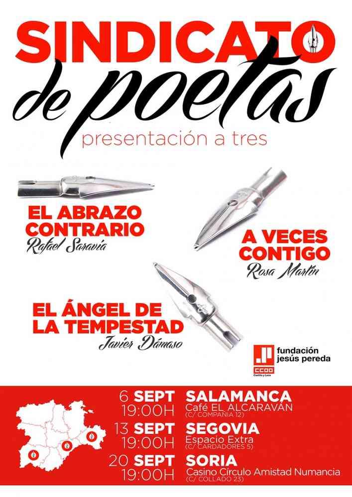 """""""Sindicato de poetas"""", presentación de tres poemarios"""