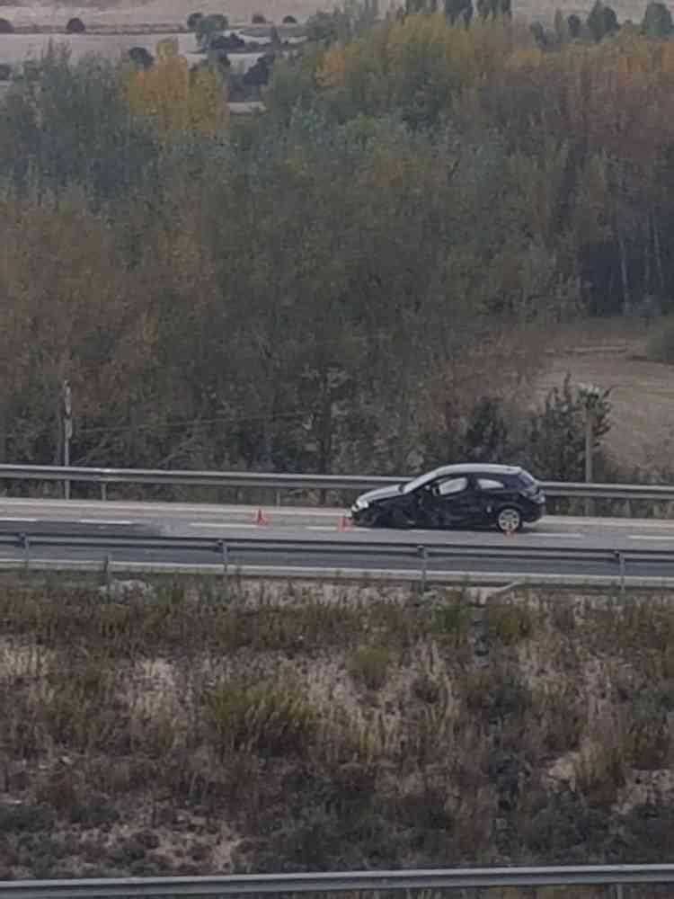 El conductor del camión accidentado en Langa, trasladado a Burgos