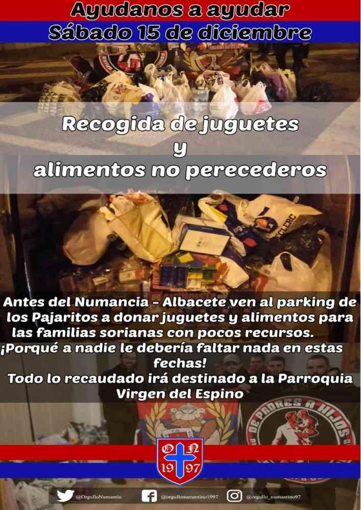 Orgullo Numantino recoge juguetes y alimentos para los más necesitados
