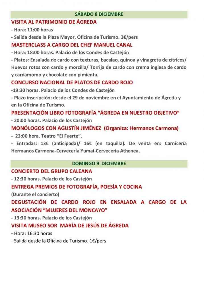Programa oficial de las X Jornadas del Cardo Rojo de Ágreda