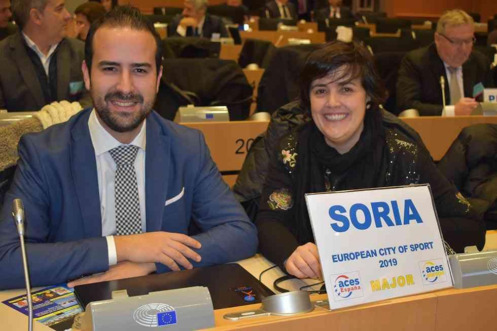 Soria recibe en Bruselas su sello de Ciudad Europea del Deporte