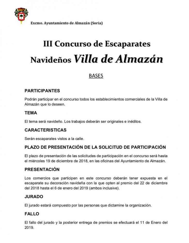 Inscripciones para el III Concurso de escaparates navideños