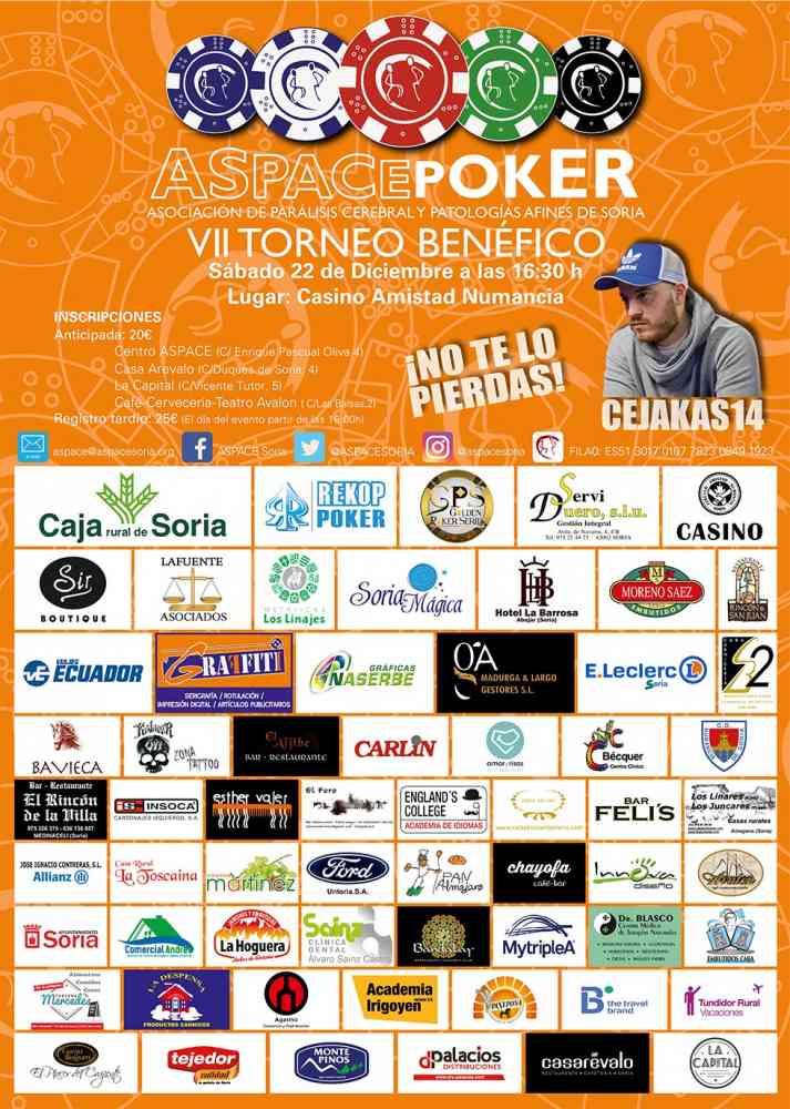 ASPACE Soria organiza el VII Torneo benéfico de Póker