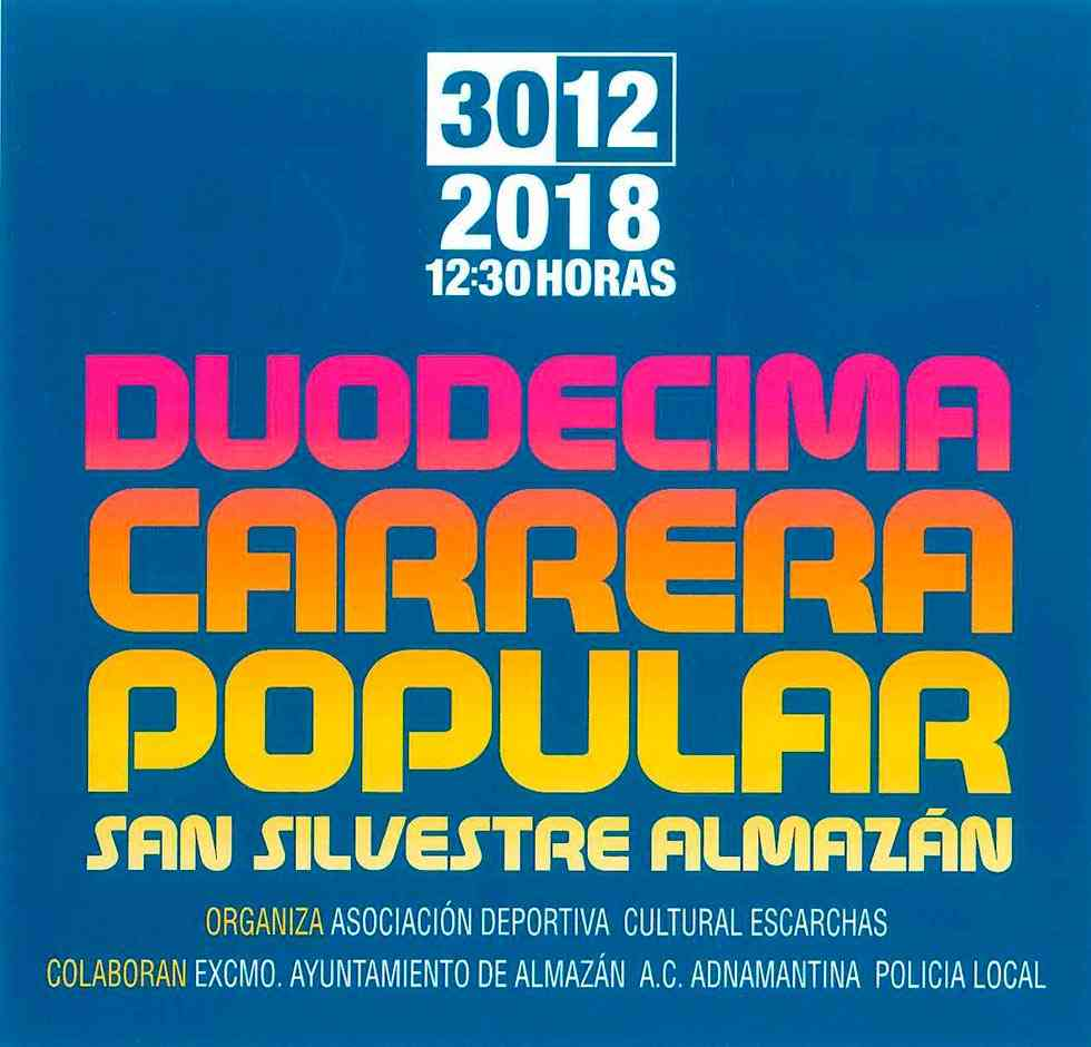 Almazán organiza la XII carrera popular San Silvestre