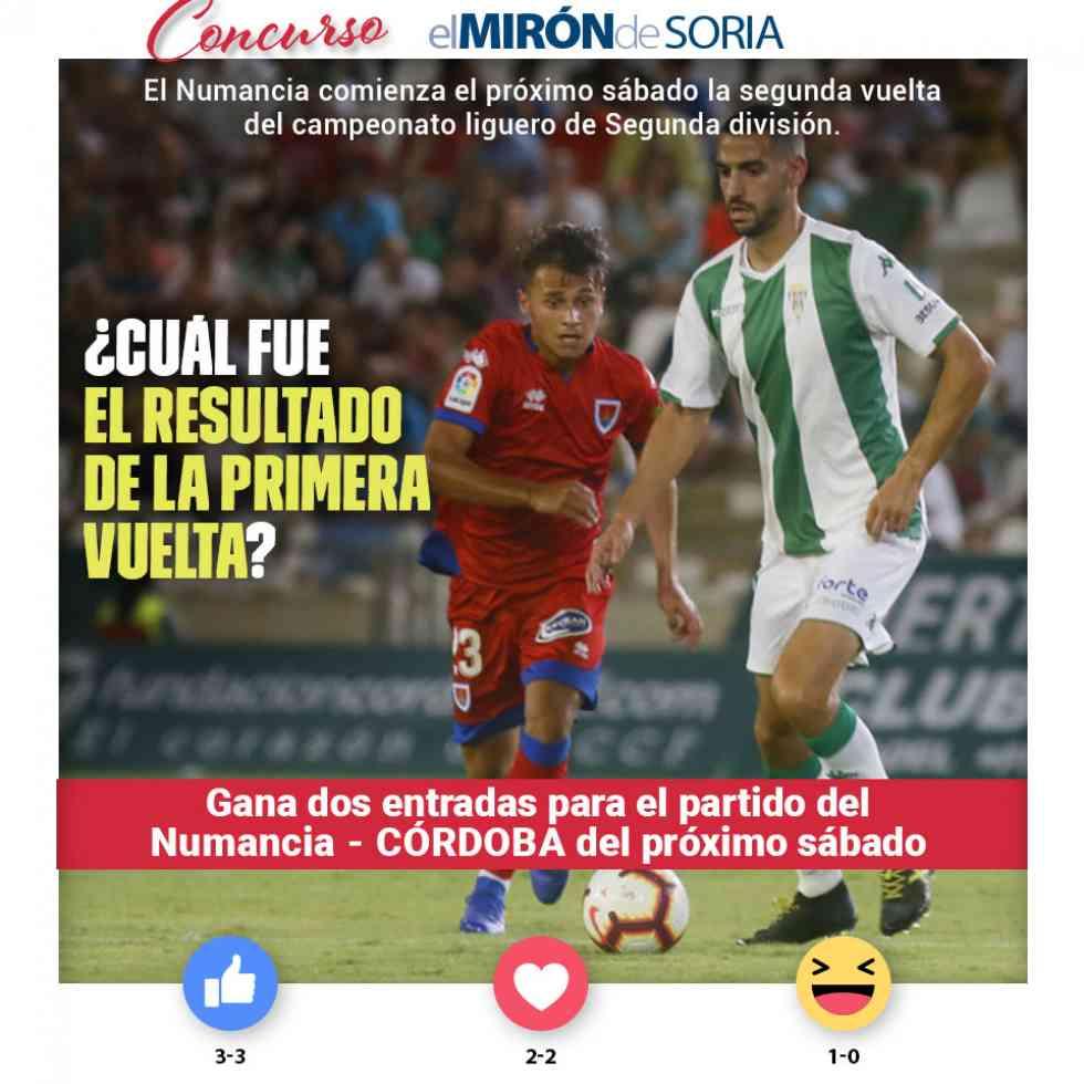 Gana dos entradas para ver el Numancia-Córdoba