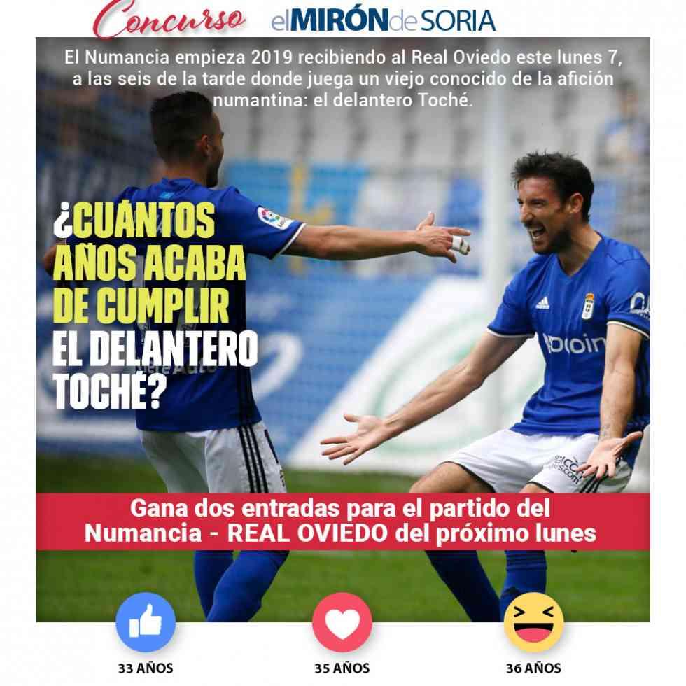 Gana dos entradas para ver el Numancia-Real Oviedo
