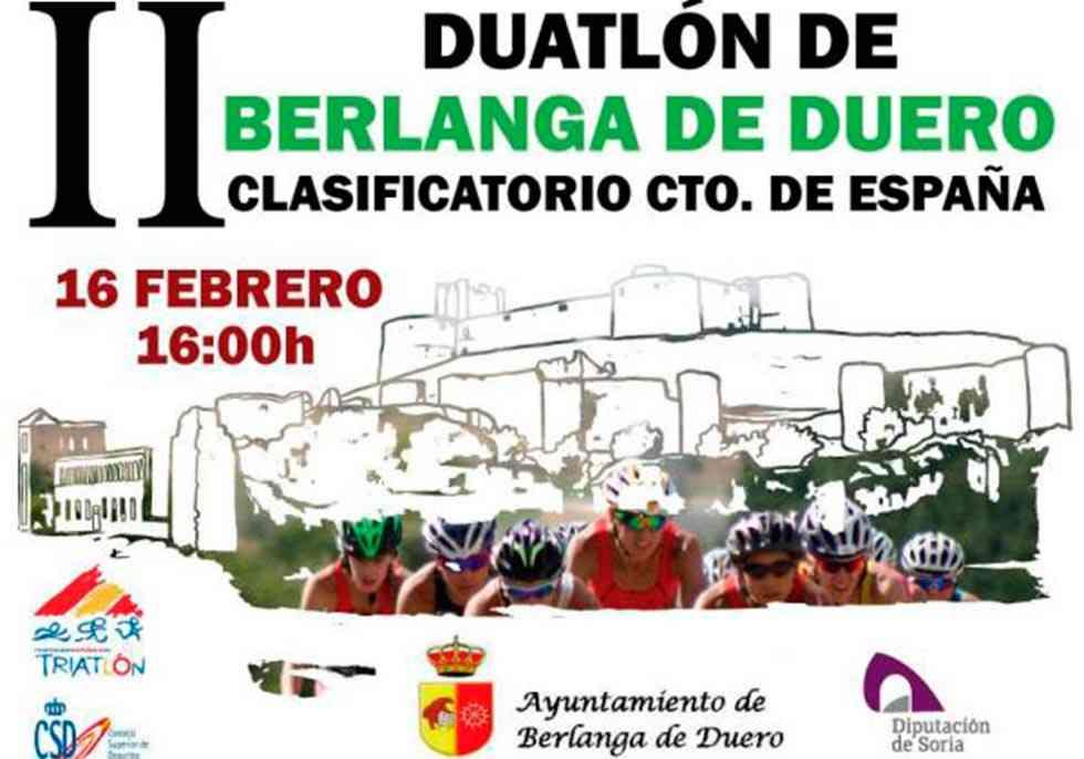 El II Duatlón de Berlanga de Duero será el 16 de febrero