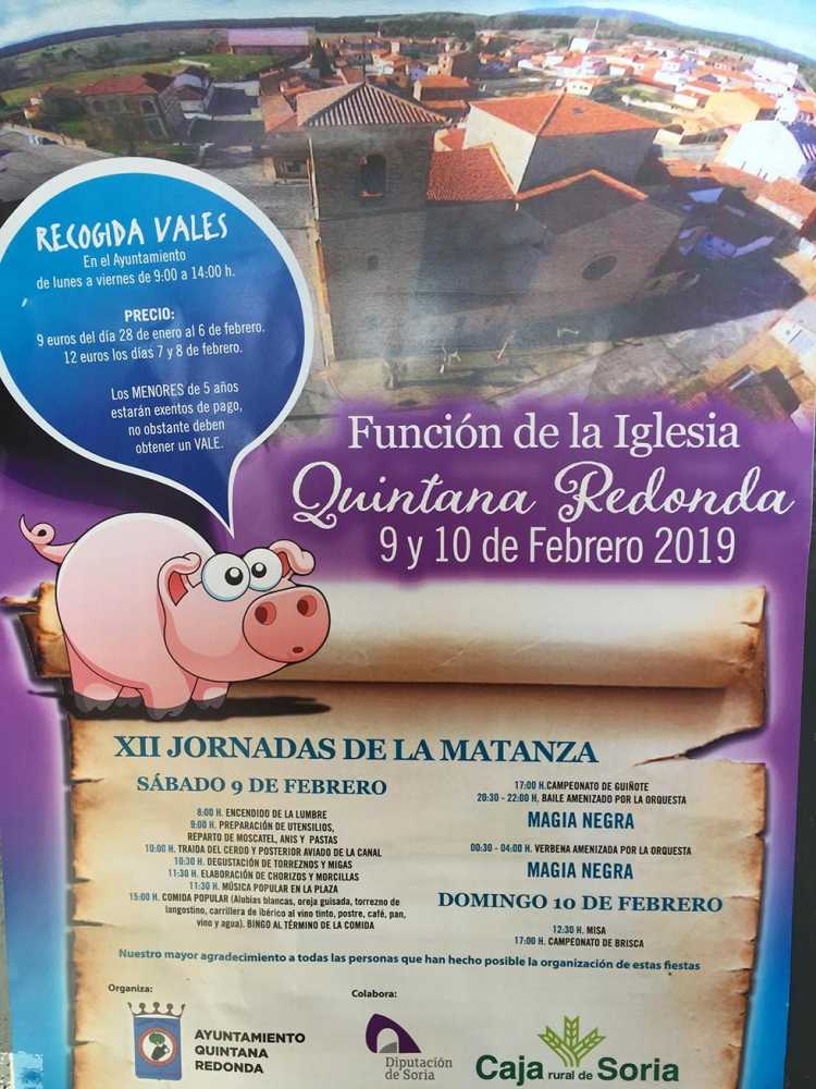 Quintana Redonda celebra sus Jornadas de la Matanza