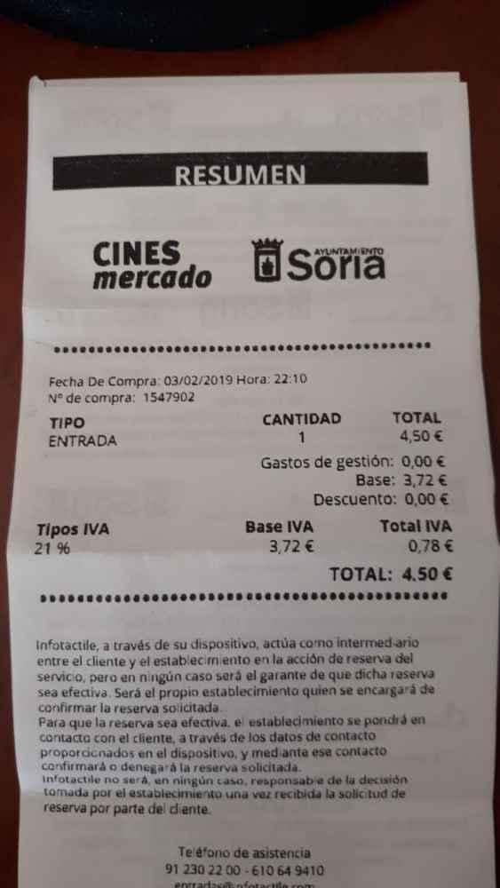 El Ayuntamiento grava con el 21 por ciento la entrada a los Cines Mercado