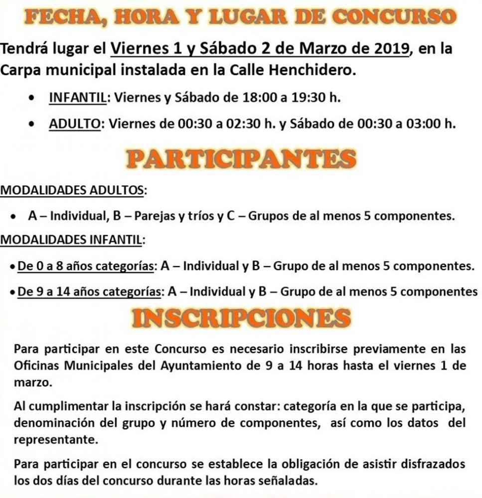 Concurso de disfraces de carnaval en Almazán
