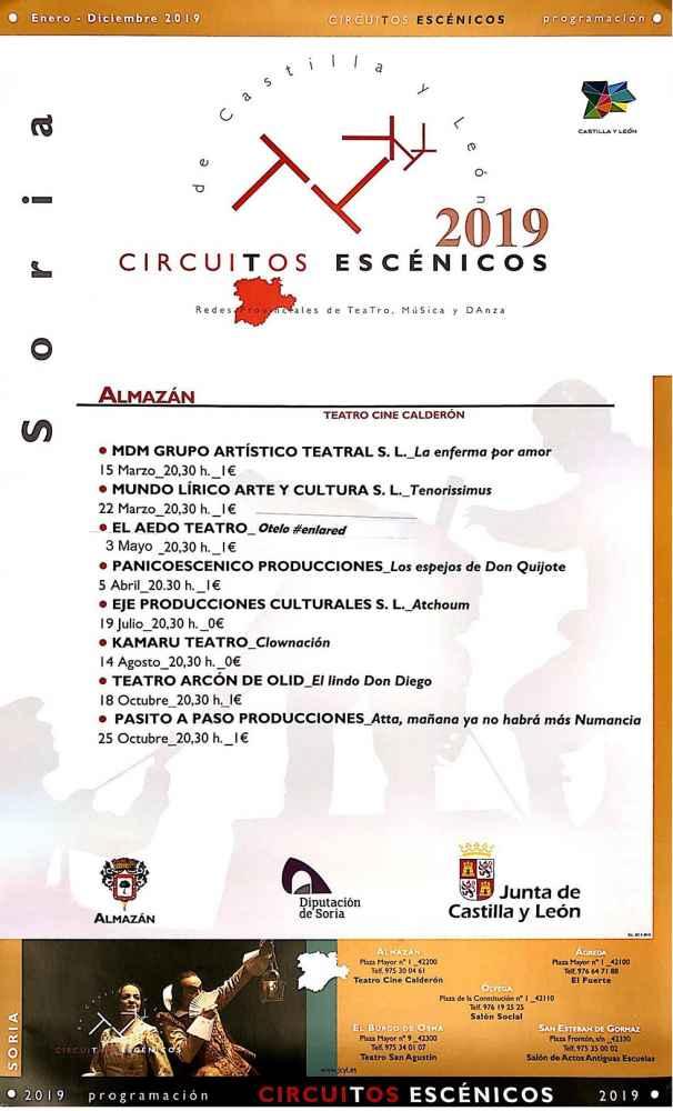 """Programación de """"Circuitos Escénicos"""" en Almazán"""