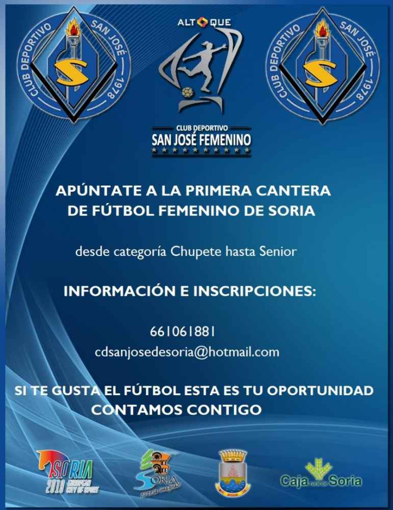 El C.D. San José promueve una cantera de fútbol femenino