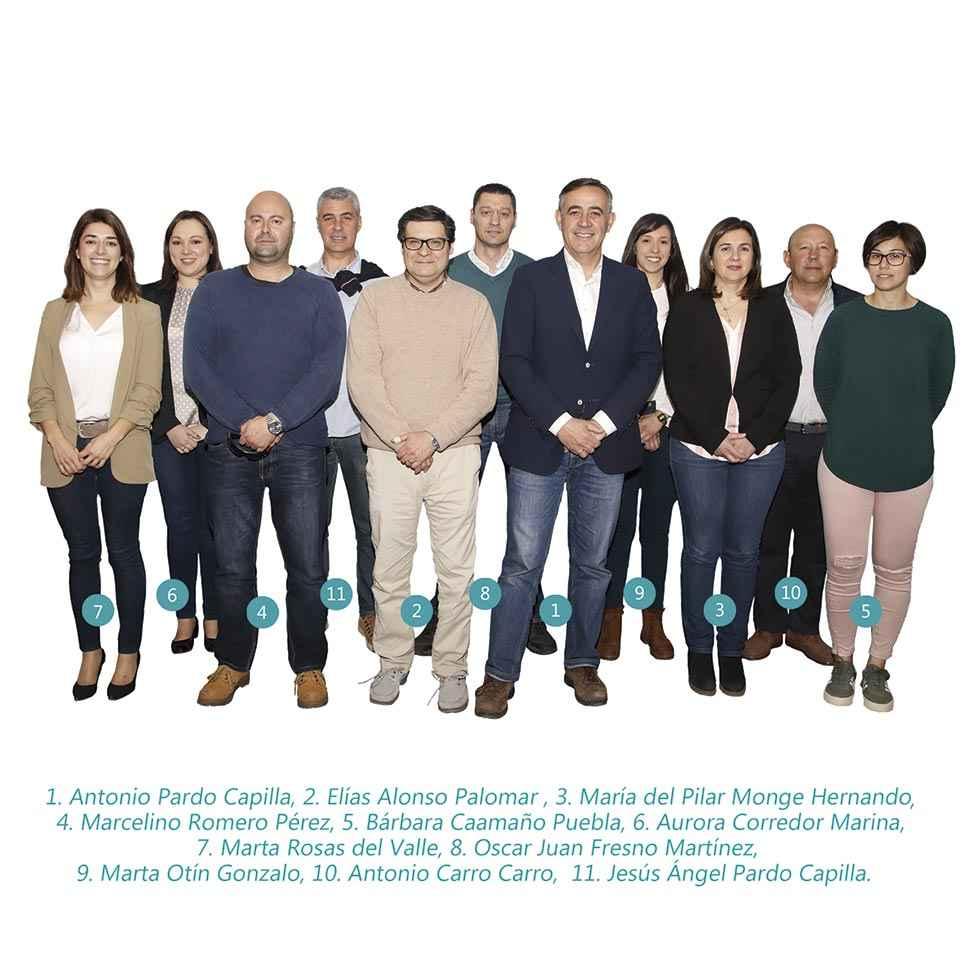 La candidatura de la PPSo en El Burgo
