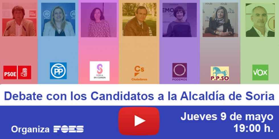 Debate en FOES con los siete alcaldables en Soria