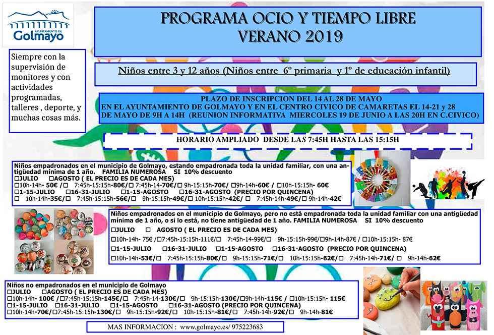 Actividades de verano en Golmayo para conciliar vida familiar y laboral
