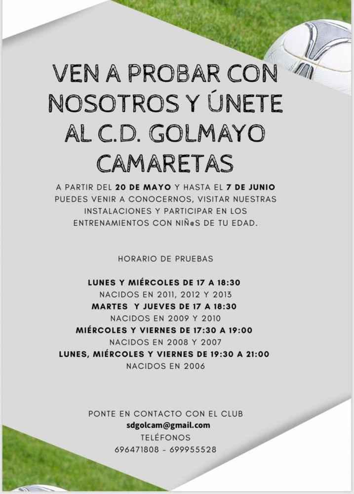 C.D. Golmayo-Camaretas: ¿Te gusta jugar al fútbol?