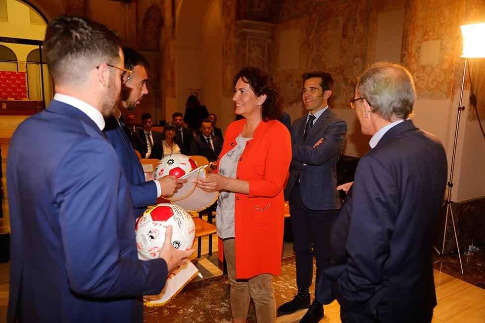 Reconocimiento para la selección absoluta de fútbol de Castilla y León