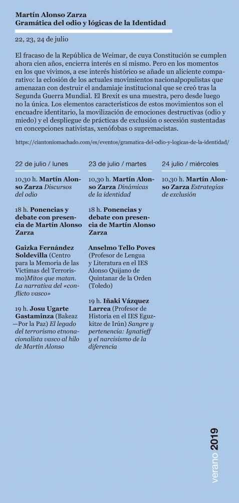 El CIAM aborda la faceta de pensador y filósofo en obra de Machado
