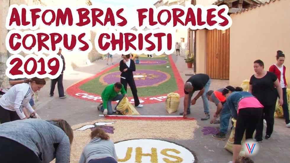 Alfombras florales en San Esteban de Gormaz