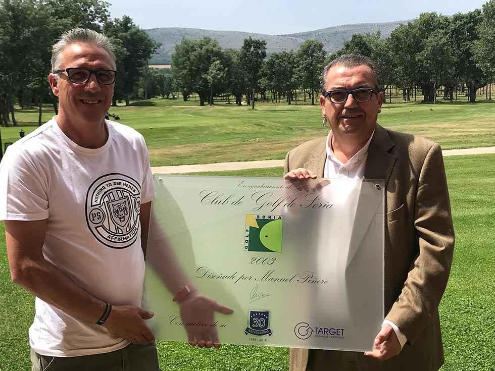 Placa para el Club de Golf de Soria en 30 aniversario