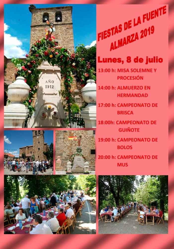 Almarza celebra la fiesta de la fuente