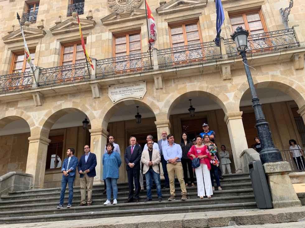 Soria se concentra para condenar último asesinato de violencia de género