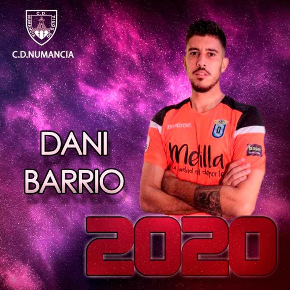 El Numancia ficha al guardameta Dani Barrio