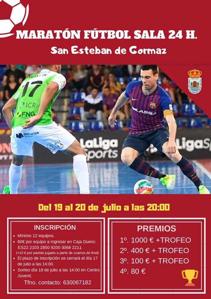 Fútbol sala 24 horas, en San Esteban de Gormaz