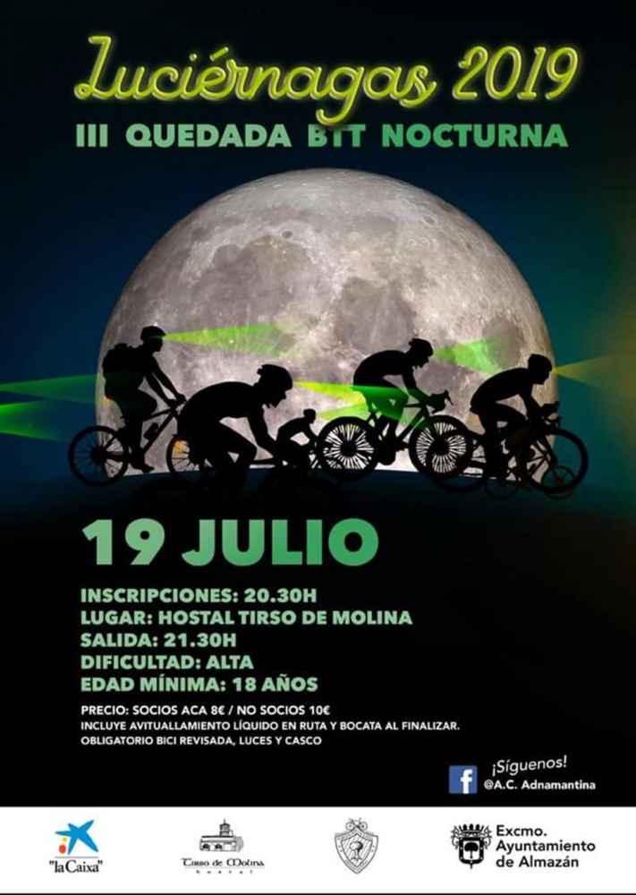 """III Quedada BTT Nocturna """"Luciérnagas"""", en Almazán"""