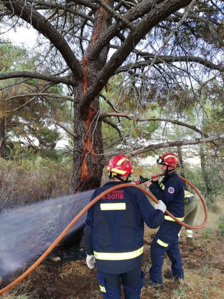 Un rayo provoca un pequeño incendio forestal