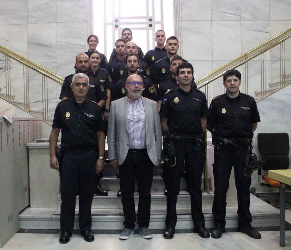 Diez nuevos agentes de la Policía hacen sus prácticas en Soria