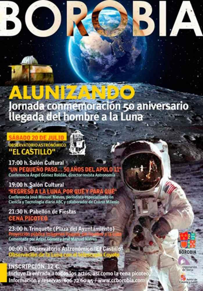 El Observatorio de Borobia celebra el 50 aniversario de la llegada del hombre a la luna