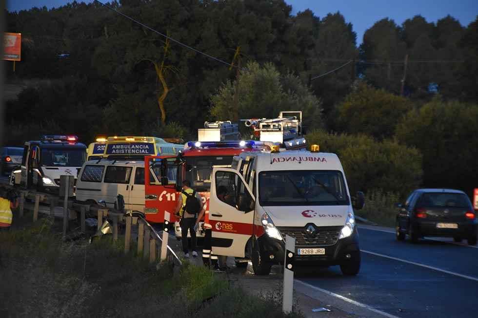 Cinco heridos, dos de ellos graves, en accidente en N-234, en Toledillo