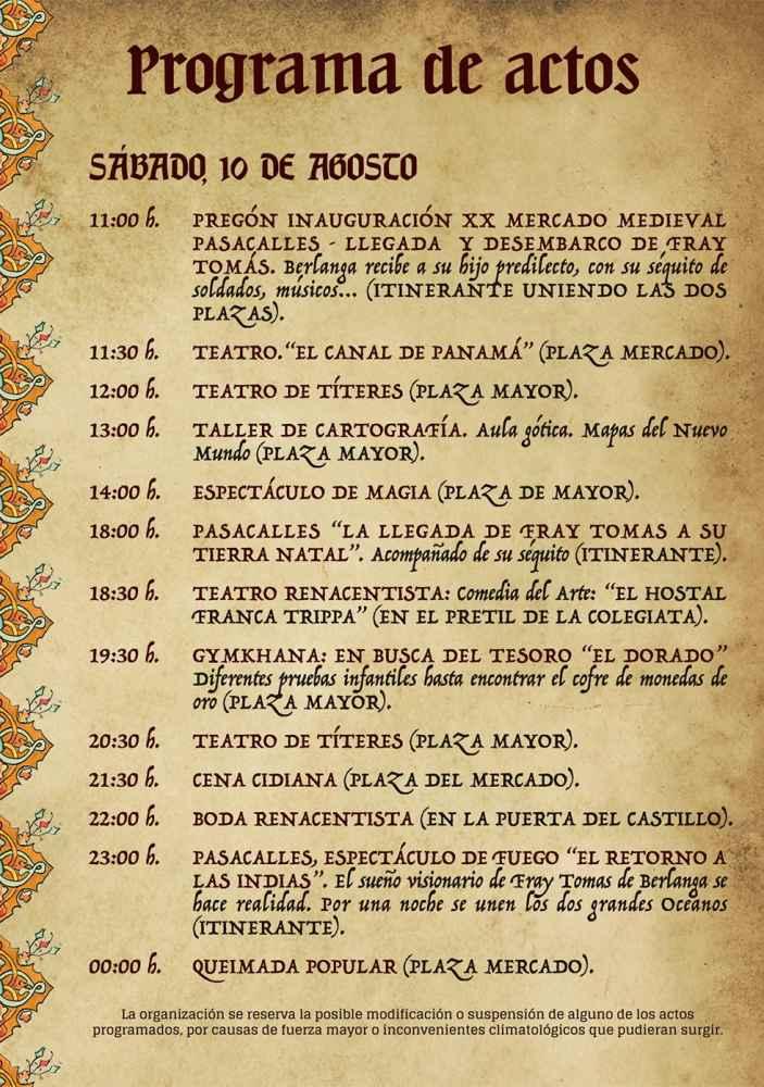 Berlanga de Duero celebra su XX mercado medieval